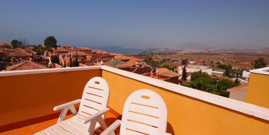 248. PENTHOUSE APARTMENT 2BED SEA VIEWS 50M2 SOLARIUM – COMMUNAL POOL – MOJON HILLS – ISLA PLANA