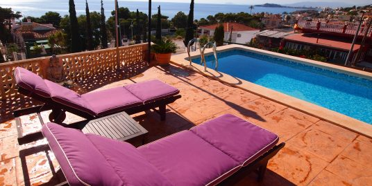 1403. SUPERB VILLA PLOT 500M2 – 3B 2BATH SEA VIEWS AND SOUTH FACING, GARDEN AND POOL